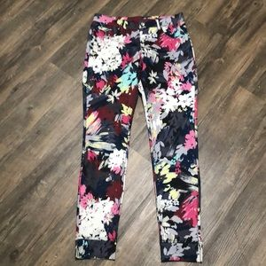 HUE Leggings Pants Floral Twill SZ S New w…